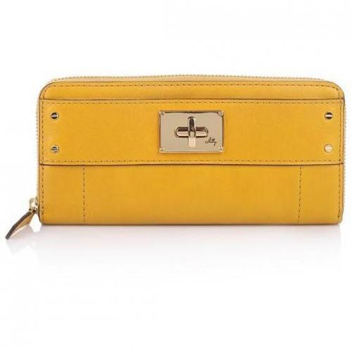 Milly Amelia Zip Around Wallet Mustard