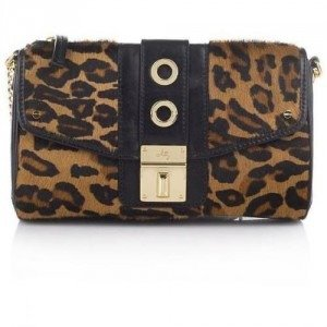 Milly Harper Haircalf Top Zip Camera Bag Brown Leopard Print