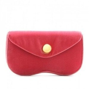 Miu Miu Samtclutch light red
