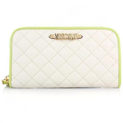 Moschino Brieftasche Beige/ Grün