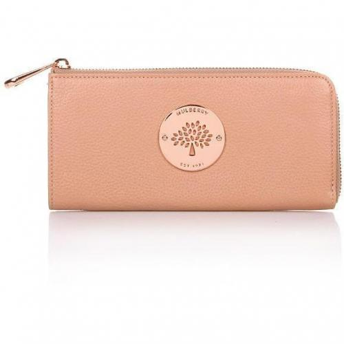 Mulberry Daria Slim Zip Wallet Plaster Pink