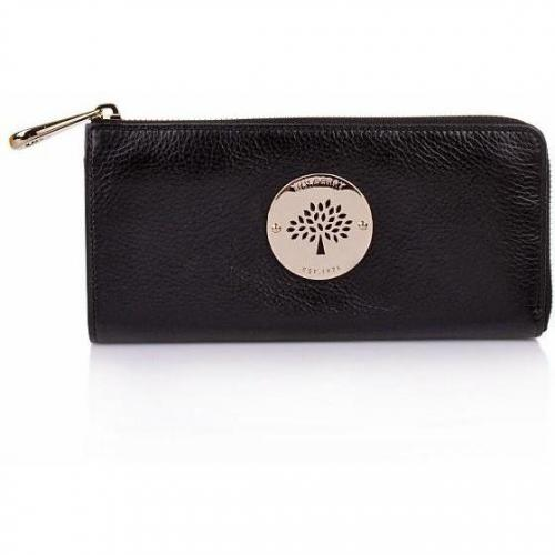 Mulberry Daria Slim Zip Wallett Soft Spongy Black