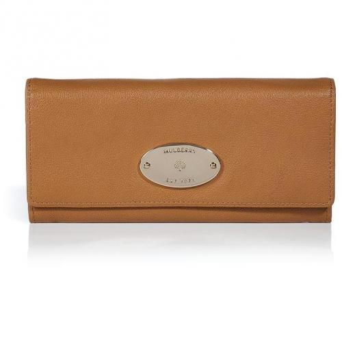 Mulberry Fudge Glossy Buffalo Continental Wallet