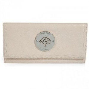 Mulberry Marshmallow White Daria Continental Wallet