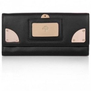 Mulberry Travel Continental Wallet Black