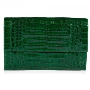 Nancy Gonzalez Kelly Green Crocodile Clutch