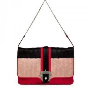 Paula Cademartori Red/Multi Satin Sylvie Clutch