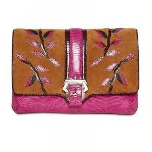 Paula Cademartori Silvye Jungle Eidechsen und Leder Clutch