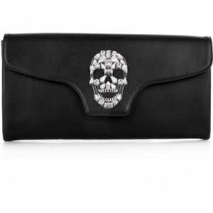 Philipp Plein Clutch Crazy Skull Black