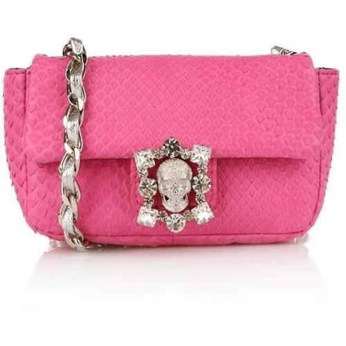Philipp Plein Python Diamond Baby Bag Pink