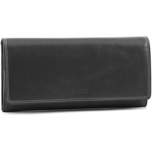 Picard Porto Portemonnaie Damen Leder schwarz 19 cm