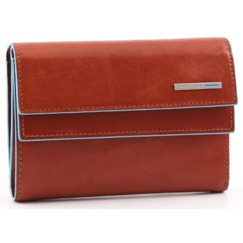 Piquadro Blue Square Geldbörse Damen Leder orange 14 cm