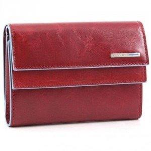 Piquadro Blue Square Geldbörse Damen rot 14 cm