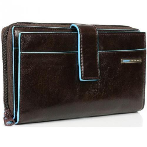 Piquadro Blue Square Geldbörse Leder mahagoni 17,5 cm