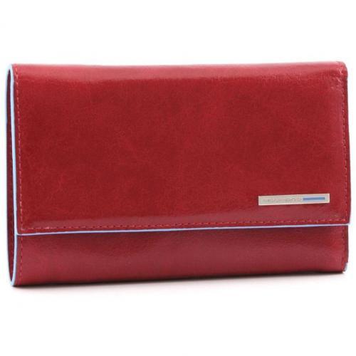 Piquadro Blue Square Geldbörse Leder rot 15 cm