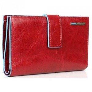 Piquadro Blue Square Geldbörse Leder rot 9,5 cm