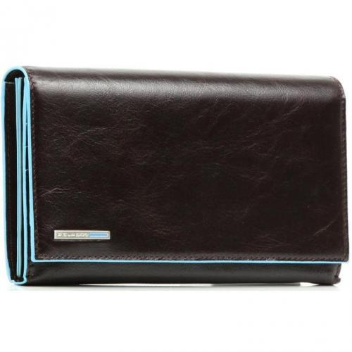 Piquadro Blue Square Geldbörse mahagoni 19 cm
