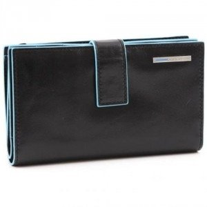 Piquadro Blue Square Geldbörse schwarz 15,5 cm