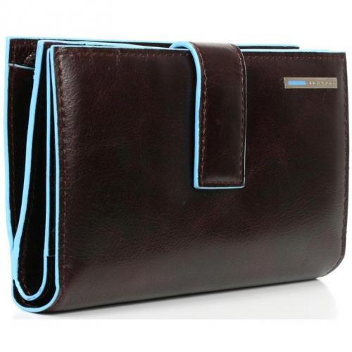 Piquadro Blue Square Portemonnaie mahagoni 9,5 cm