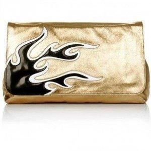 Prada Flames Pochette Platino Nappa Gold