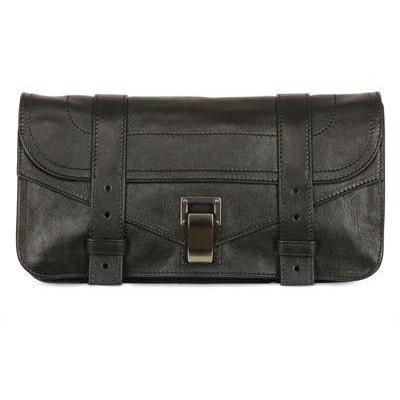 Proenza Schouler Ps1 Clutch aus Lux Leder schwarz