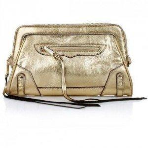 Rebecca Minkoff MASON CLUTCH Metallic Gold