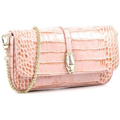 Roberto Cavalli Class Perla Clutch Leder pink 20,5 cm