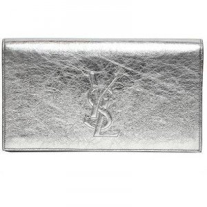 Saint Laurent Belle de Jour Clutch aus Metallischem Leder