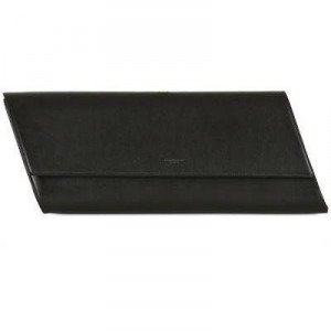 Saint Laurent Diagonale Clutch aus Poliertem Leder