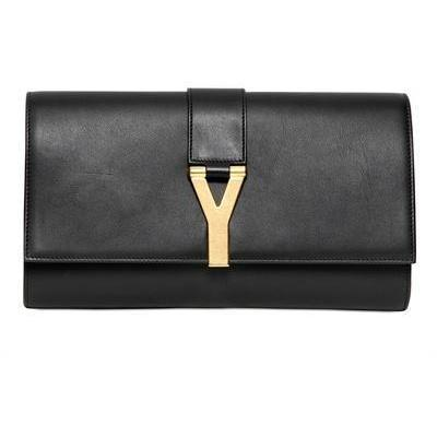 Saint Laurent Y Glänzende Lederclutch