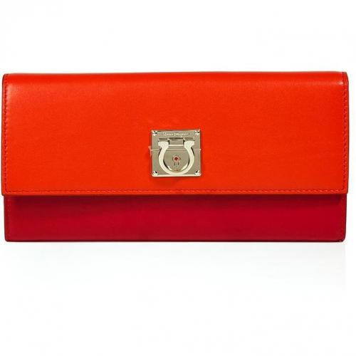 Salvatore Ferragamo Tonal Lava Leather Wallet