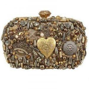 Sarah'S Bag Diamond Solide Boxclutch