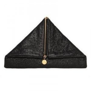 Simone Rainer Triangolar Nigredo Leder Clutch