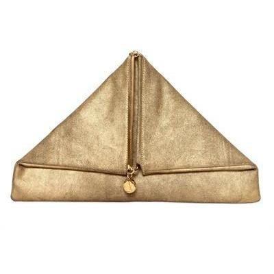 Simone Rainer Triangular Rubedo Leder Clutch