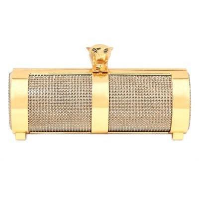 Stark Goldene Panter Swarovski Kristall Clutch