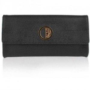 Versace Collection Borsa Clutch Vitello Stampa Cinhgiale Nero/Oro
