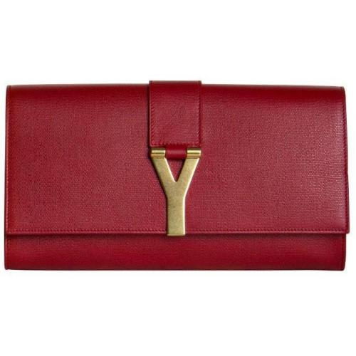 Yves Saint Laurent Clutch Chyc rot