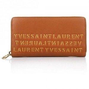 Yves Saint Laurent Portafoglio Flirty Bulgaro Brown