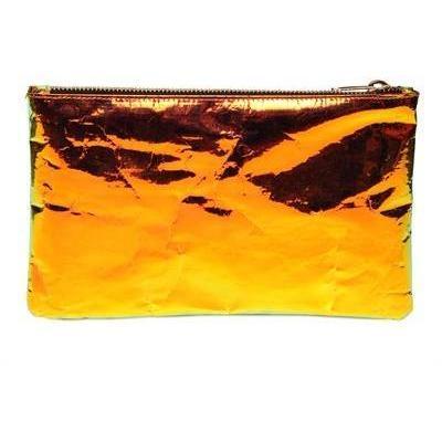 Zilla Hologramm Laminierte Baumwollclutch orangegold