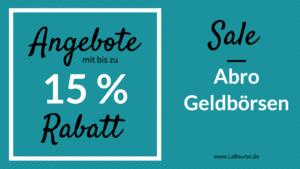 SALE: Abro Geldbörsen