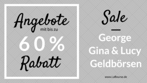 SALE: George Gina & Lucy Geldbörsen