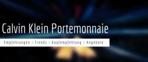 Calvin Klein Damen Portemonnaie: Empfehlungen & Test 2021