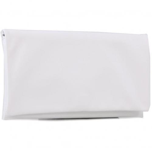 Cashmere Clutch Leder weiß 29 cm von Abro