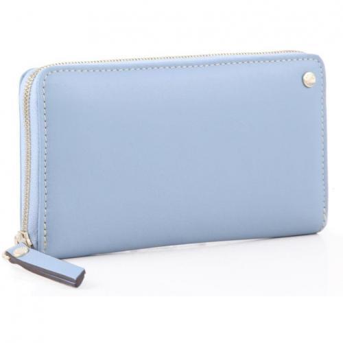 Cashmere Geldbörse Damen Leder hellblau 19 cm von Abro