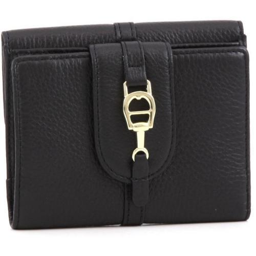 All In Geldbörse Damen Leder schwarz 12 cm von Aigner