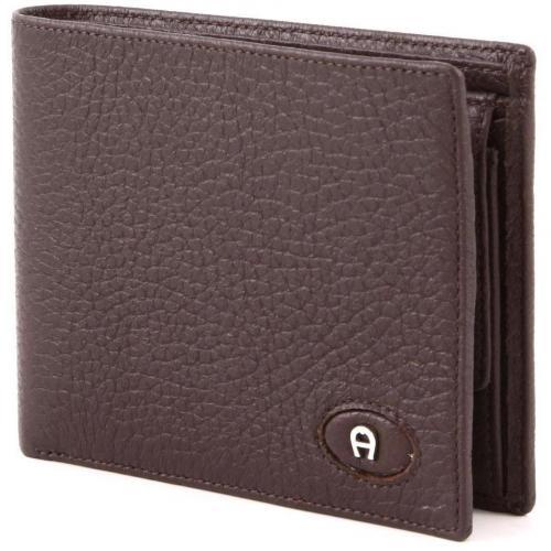 Basics Geldbörse Leder dunkelbraun 12 cm von Aigner