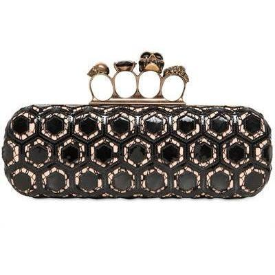 Knucklebox Laser Cut Clutch von Alexander McQueen