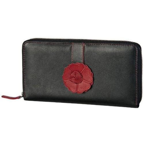 Como (21 cm) Geldbörse braun/rot von Bodenschatz