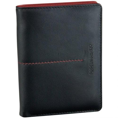 Stitching (13 cm) Geldbörse schwarz/rot von Bodenschatz