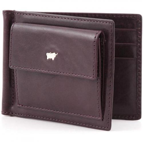 Basic Geldbörse Leder bordeaux 11,5 cm von Braun Büffel